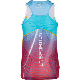 La Sportiva Sprint Tank Women Berry/Malibu Blue